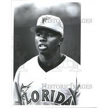 1995 Press Photo Darrell Whitmore American Major League Baseball Cleveland India
