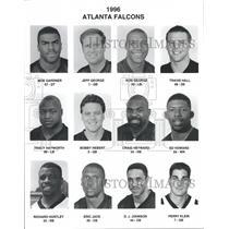 1996 Press Photo Atlanta Falcons Football Team Members - RRQ64317