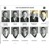 1997 Press Photo Edmonton Oilers Ice Hockey Team NHL - RRQ50397