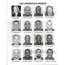 1997 Press Photo Minnesota Vikings Roster - RRQ55441