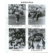 Press Photo Buffalo Bills Players Cribbs Lewis Butler - RRQ64143