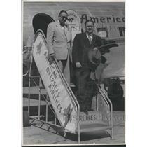 1950 Press Photo Cooper Green and Colonel Paul V. Bitlus, executive director