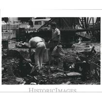 1985 Press Photo Airplane fatality, Texas - hca21129