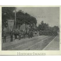 1893 Press Photo Union members march in Milwaukee Labor Day Parade - mjx48119