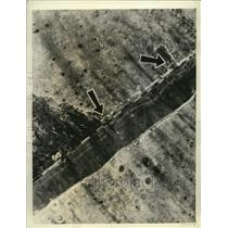 1943 Press Photo Aerial view of Buna Airdrome destroyed by American Air Forces