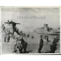 1945 Press Photo Australian Infantrymen of 7th Division in Balikpapan Borneo