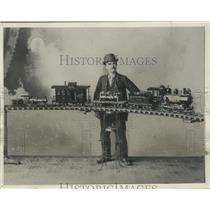 1899 Press Photo Clement F. Bonin Displays His Model Train - mjx48104
