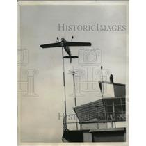 1957 Press Photo Stamp 1800 CV Plane Piloted by Leon Biancotto of France