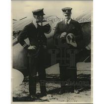 1923 Press Photo Lieut. H.J. Brew and Lieut A.J. Williams set speed records