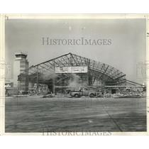 1960 Press Photo Demolition of Old Terminal at Moisant Airport, New Orleans