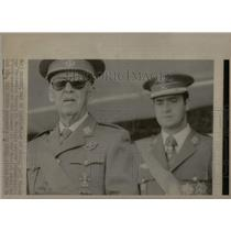 1975 Press Photo Spanish General Francisco Franco - RRX22257