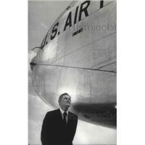 1969 Press Photo Willis C. Hagan, Hayes International, Airplane - abno05133