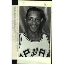 1984 Press Photo San Antonio Spurs basketball player Alvin Robertson - sas13258