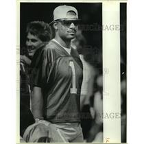 1989 Press Photo Houston Oilers football quarterback Warren Moon - sas13226