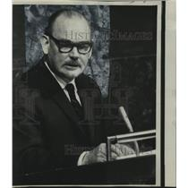 1967 Press Photo Paul Hasluck, Australian Foreign Minister at United Nations