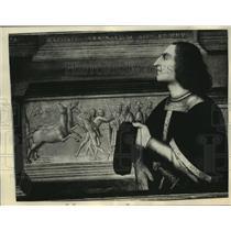 1935 Press Photo Portrait of Taddeo Taddei, Florentine art patron, New York City