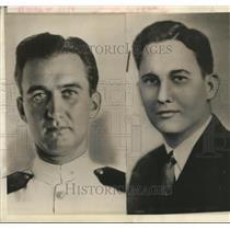 1942 Press Photo Carl Faires and Roberdeau Dorsey arrives Australia from Cebu