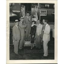 1956 Press Photo President Joseph Haverstick with Others at New Orleans Airport