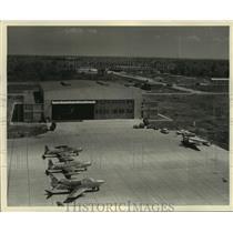 Press Photo The Louisiana Air National Guard Hangar at Alvin Callender Field