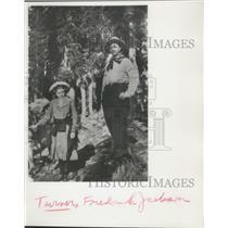 1861 Press Photo Frederick Jackson Turner & Girl in Woods, Wisconsin Historian