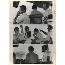 1969 Press Photo Professional Air Traffic Controllers at Newark Airport