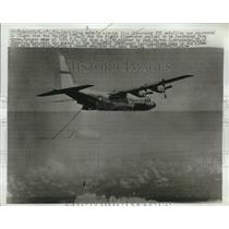 1961 Press Photo A Capsule Ejected From Discoverer Satellite Was Recovered in HI