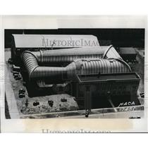1939 Press Photo Langley Field VA the 19 foot wind tunnel for air testing