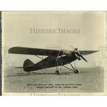 1931 Press Photo Lincoln A.P. Kinner 100 and 125 H.P. Engine Plane