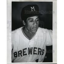 1971 Press Photo Milwaukee Brewers baseball player, Jose Cardenal - mjt02145