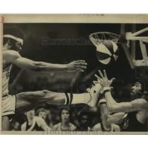 1975 Press Photo The San Antonio Spurs play ABA basketball - sas14369