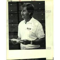 1983 Press Photo San Antonio Spurs coach Morris McHone - sas14151