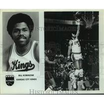 Press Photo Kansas City Kings basketball player Bill Robinzine - sas14455