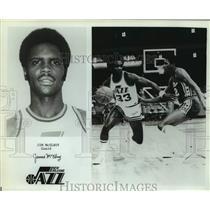 Press Photo New Orleans Jazz basketball guard Jim McElroy - sas14795