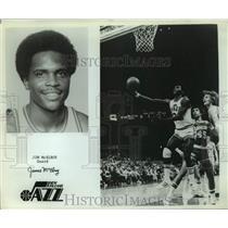 Press Photo New Orleans Jazz basketball player Jim McElroy - sas14796
