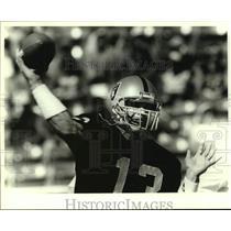 Press Photo Los Angeles Raiders football quarterback Jay Schroeder - sas14781