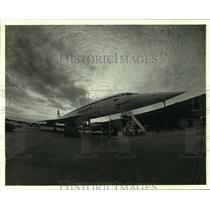 1979 Press Photo The British Airways Concorde jet at New Orleans Airport