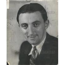1933 Press Photo John P. Carmichael Sportswriter- RSA61763