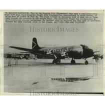 1947 Press Photo Douglas C-54 Skymaster completes automated transatlantic flight