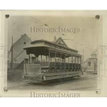 1907 Press Photo Trolley car; open type or summer car built in 1893 - mjx50180