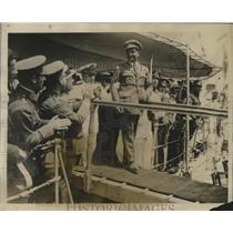 1926 Press Photo Spanish Aviator Ramon Franco completes Transatlantic Flight