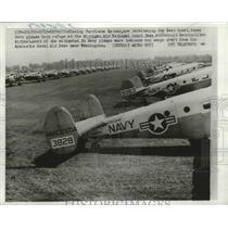 1961 Press Photo Navy Planes Fleeing Hurricane Esther Take Cover at MI Base