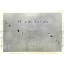 1942 Press Photo American Planes Flying in Echelon Formation in Panama