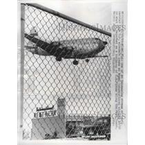 1962 Press Photo American Air Force Aircraft at the Miami International Airport