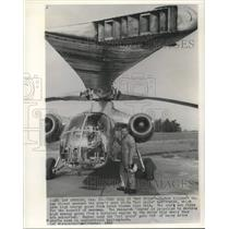 """1965 Press Photo Hughes Aircraft next XV-9A """"hot cycle"""" helicopter - now10548"""