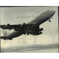 1970 Press Photo First Boeing 747 for Braniff International made by Boeing
