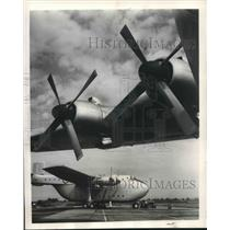 1956 Press Photo Beverly Air Transport Planes, England - mjm05388