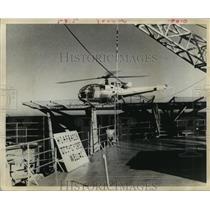 1970 Press Photo Vought Helicopter's Alouette II lands on platform - hca28211