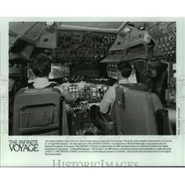 "1989 Press Photo ""Living with Disaster,"" a special on The Infinite Voyage show"