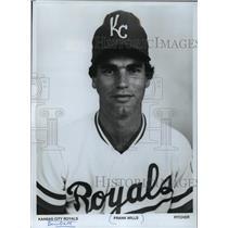 1985 Press Photo Kansas City Royals baseball pitcher, Frank Wills - mjt02867