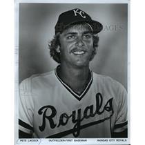 1978 Press Photo Kansas City Royals baseball player, Pete Lacock - mjt03548